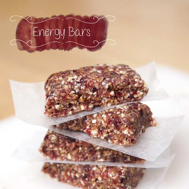 No Bake Cranberry Raisin Almond Energy Bar's
