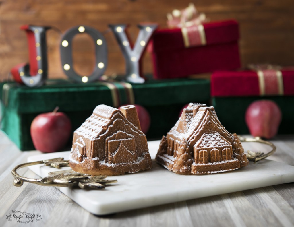 Apple Fritter Bread Houses