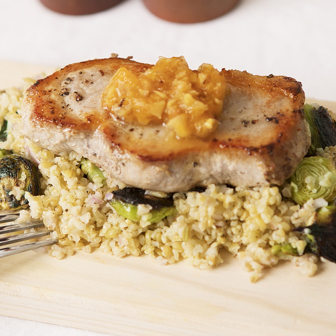 Pork Chops & Freekeh Salad