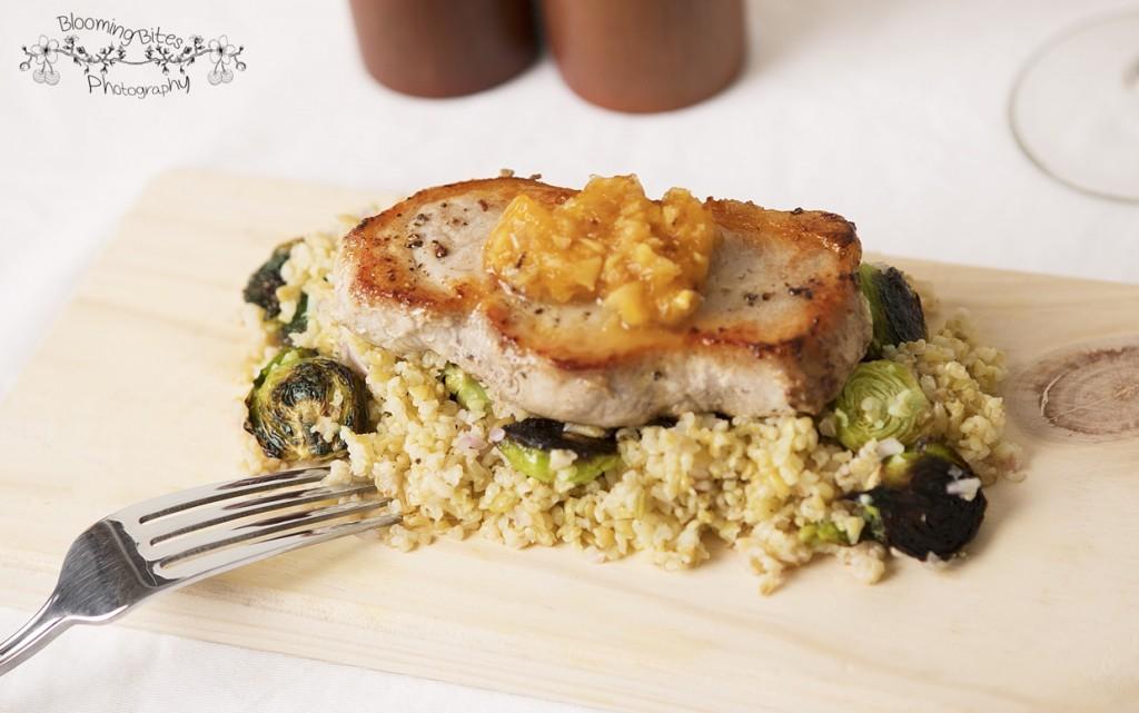 Pork Chops & Freekeh Salad