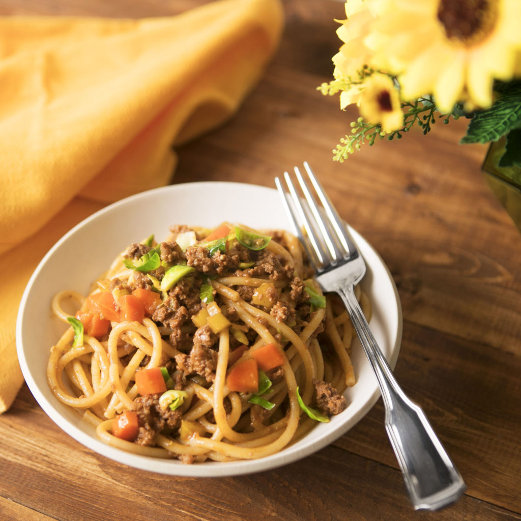 Bucatini Pasta Bolognese by Blue Apron