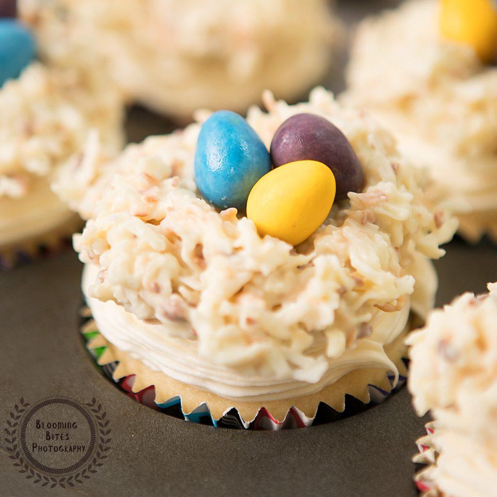 Easter Coconut & Vanilla Cupcakes