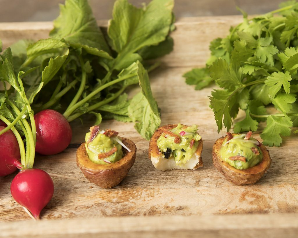 Potato cups Guacamole Bacon_0143