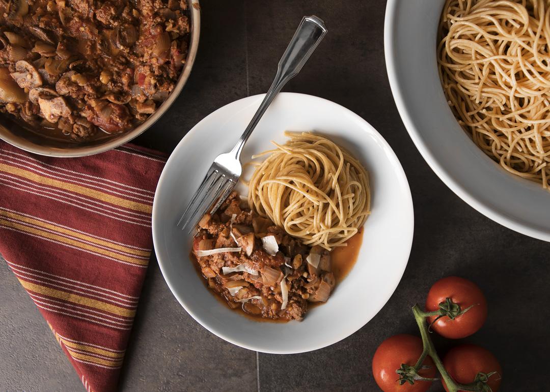 Mushroom turkey walnut bolognese_0037