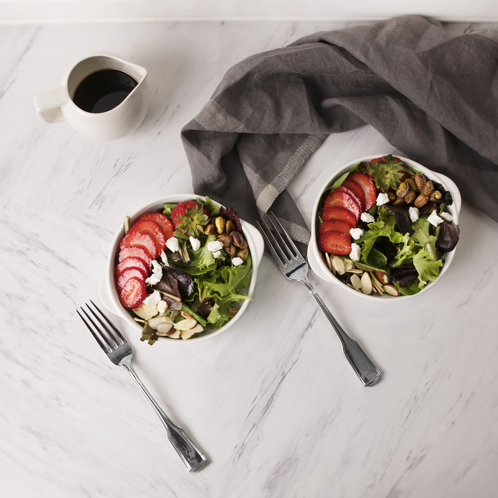 Strawberry, Nut and Goat Cheese Salad
