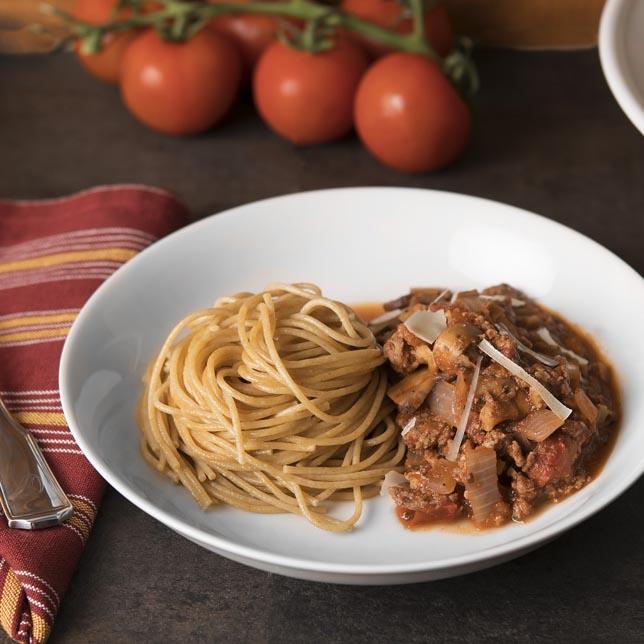 Mushroom, Turkey & Walnut Bolognese