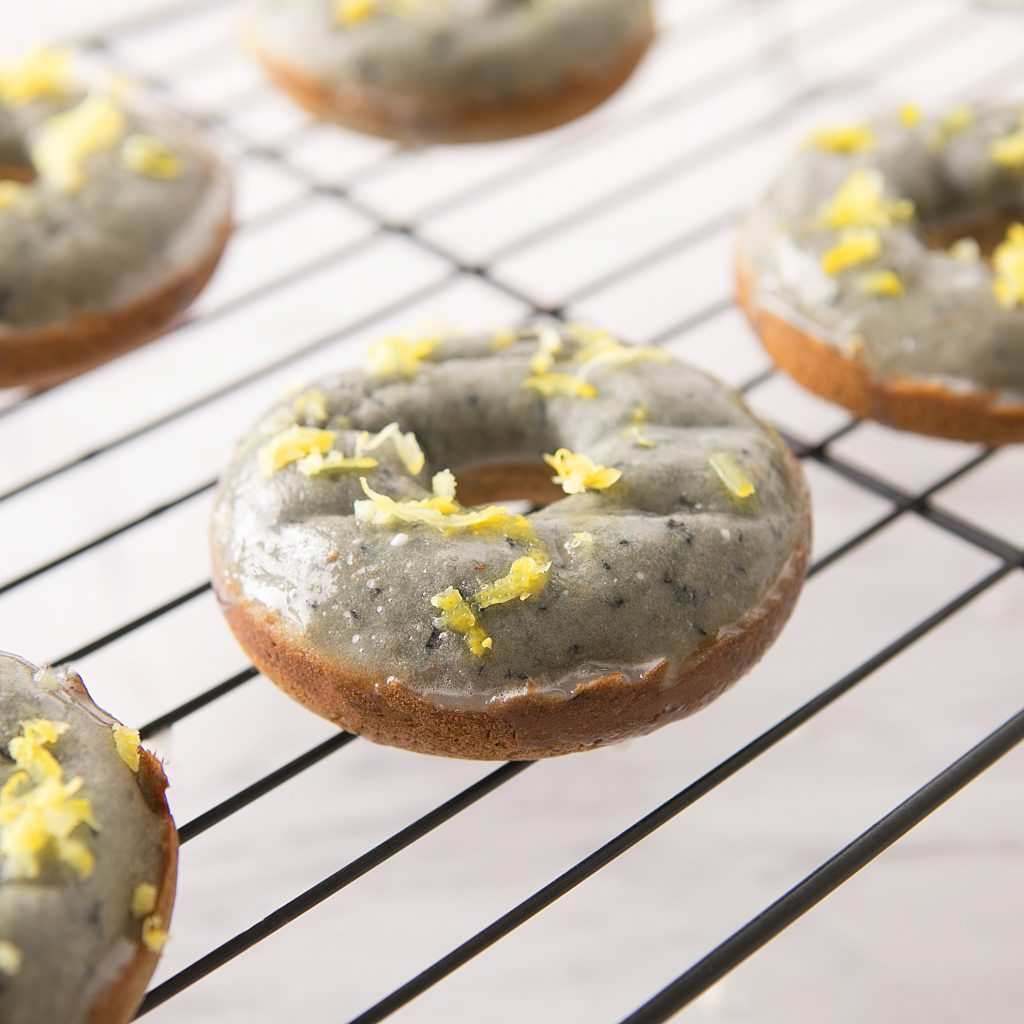 Lemon Blueberry Baked Donuts