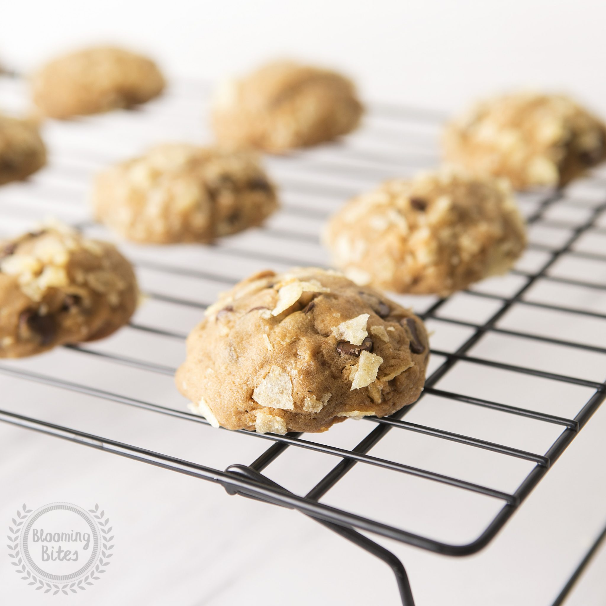 Chocolate and Potato Chip Cookies - Blooming Bites Photography