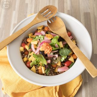 Peach and Pickled onion summer salad