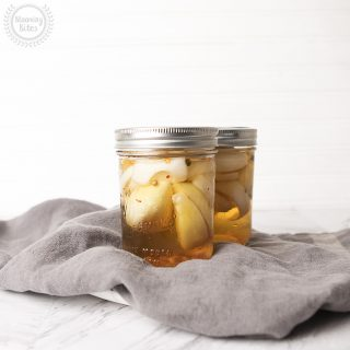 pickled onion and garlic