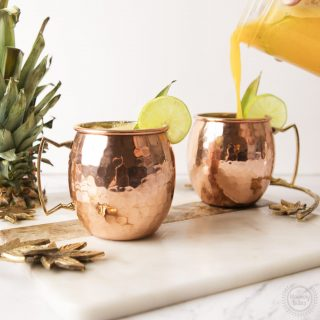 pineapple cilantro moscow mule