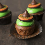 Chocolate Date Witch Hat Cupcakes