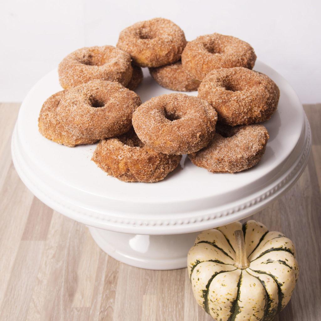 Pumpkin Cinnamon Sugar Baked Donuts