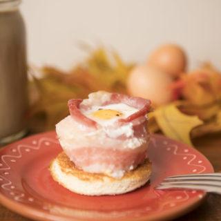 egg in bacon ring