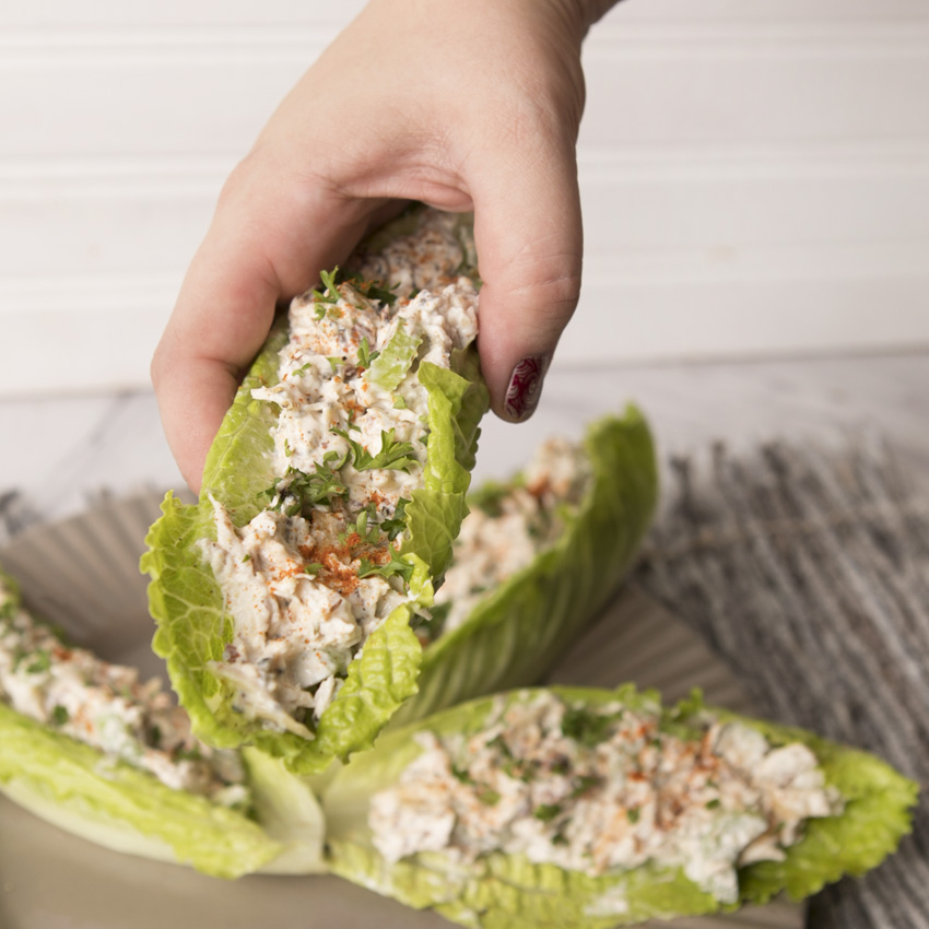 Chicken Salad Lettuce Cups