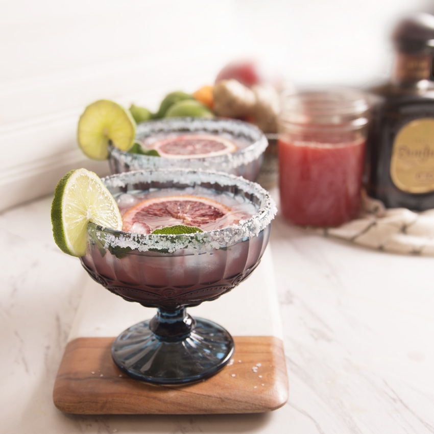 Blood Orange, Sage, and Ginger Margarita