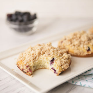 Blueberry Muffin Tops with a Streusel Crumble