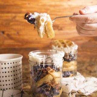 Blueberry Waffle Trifle